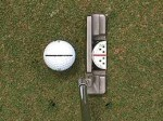 How to putt from the start - Putter lined up with line on the ball